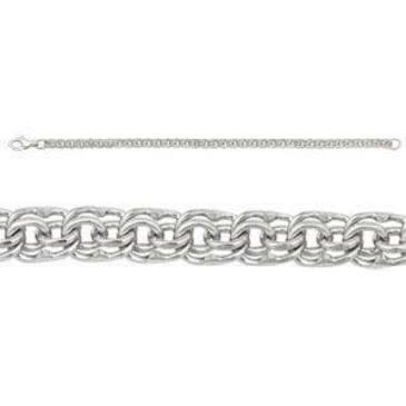 браслет плетение бисмарк из белого золота 268905080020