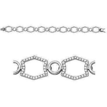 браслет c бриллиантами из белого золота 43035183-17 от EVORA