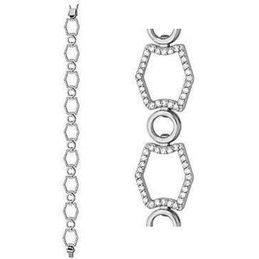 браслет c бриллиантами из белого золота 43035183-18 от EVORA