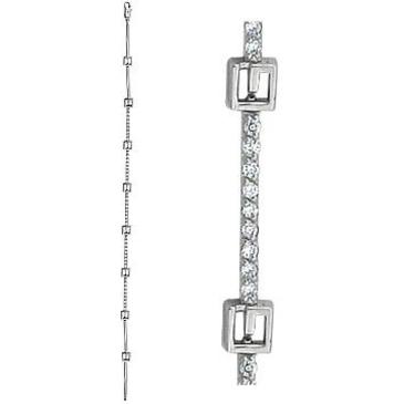 браслет c бриллиантами из белого золота 43035199-18 от EVORA