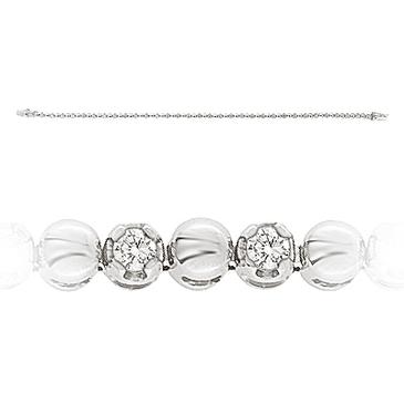браслет c бриллиантами из белого золота 43033951 от EVORA