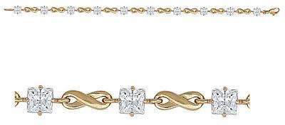 браслет c аметистами из красного золота 41992719-4 от EVORA