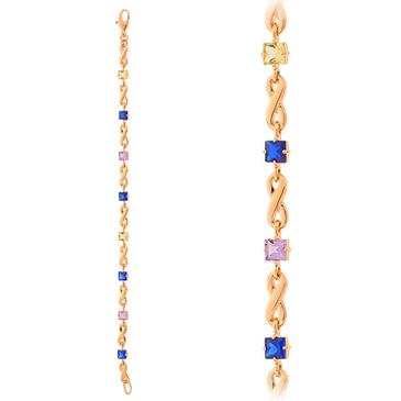 браслет c аметистами из красного золота 41992718-4-17 от EVORA
