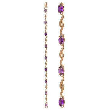 браслет c аметистами из красного золота 1060042357-16