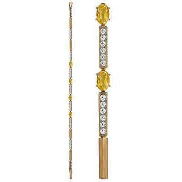 браслет c цитринами из красного золота 41924450-19.5