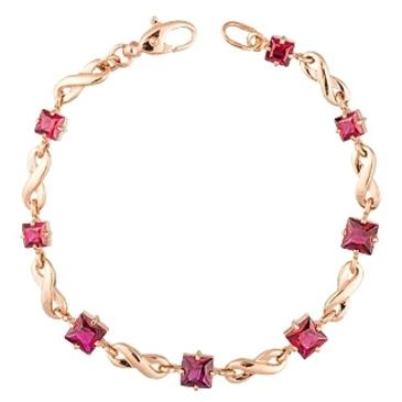 браслет c корундами из красного золота 41382719-18