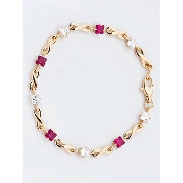 браслет c корундами из красного золота 41392718-18