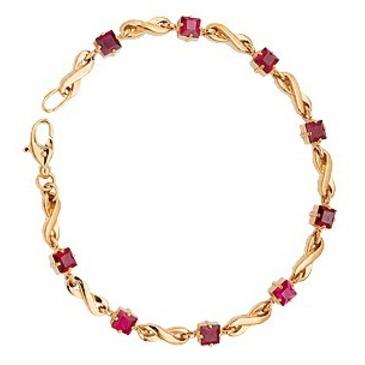 браслет c корундами из красного золота 41382718-18