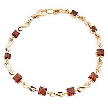 браслет c гранатами из красного золота 41302719-19