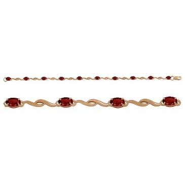 браслет c гранатами из красного золота 1130042357-18