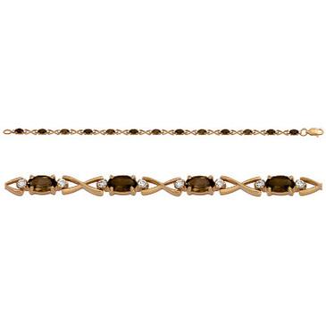 браслет c раухтопазами из красного золота 1790042359-18