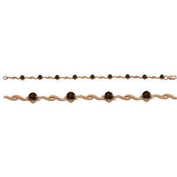 браслет c раухтопазами из красного золота 1080042506-17 от EVORA