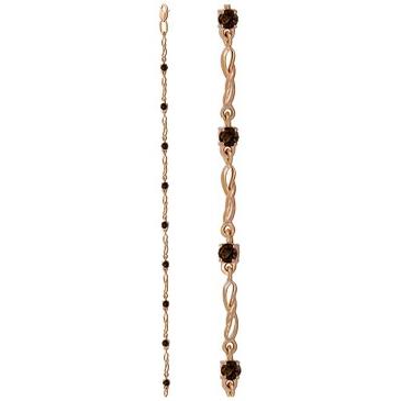 браслет c раухтопазами из красного золота 1080042447-18 от EVORA