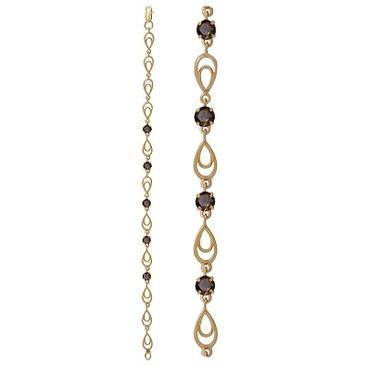 браслет c раухтопазами из красного золота 1080042428-19