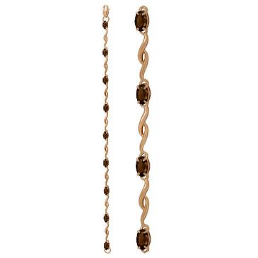 браслет c раухтопазами из красного золота 1080042357-16 от EVORA