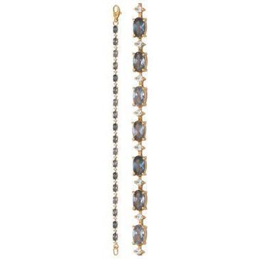 браслет c шпинелью синтетической из красного золота 41113710-18 от EVORA