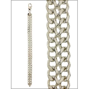 браслет двойное панцирное из серебра arwб150