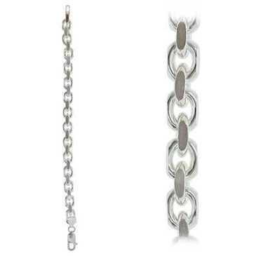 браслет якорное плетение из серебра forzdctб250