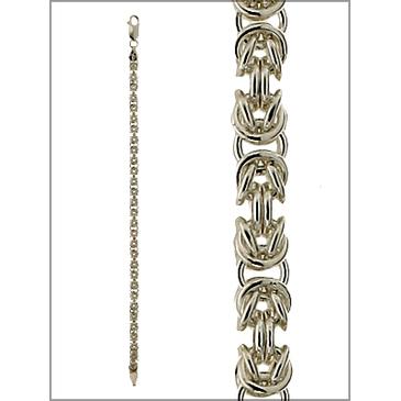 браслет римское плетение из серебра biznotdcб80