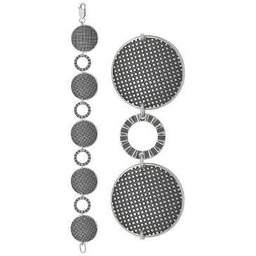 Крупный браслет пуговочки из серебра 3401041481-18