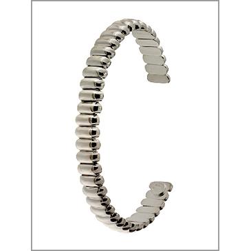 Жесткий несмыкающийся браслет из серебра abpva4102б001