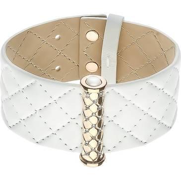 Белый кожаный браслет Zeades из стали ZST01070 от EVORA