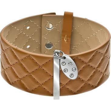 Широкий кожаный браслет Zeades со вставками из стали ZST01035