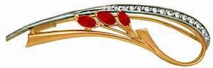 брошь c рубинами и бриллиантами из красного золота 6223690