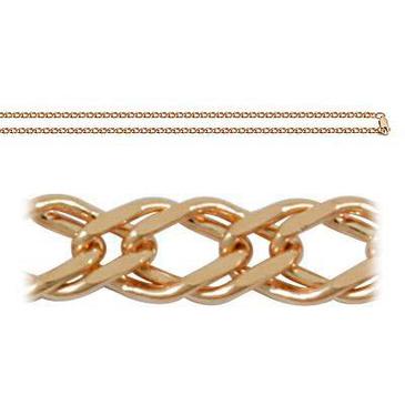 цепь двойное ромбовое плетение из красного золота 165805020055 от EVORA