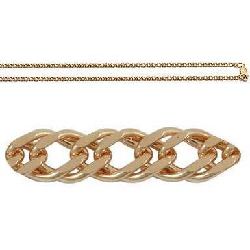Цепь двойное ромбовое плетение из красного золота 165806020040 от EVORA