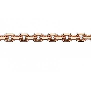 Цепь якорное плетение из красного золота 26512