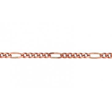 Цепь комбинированное из красного золота 37713