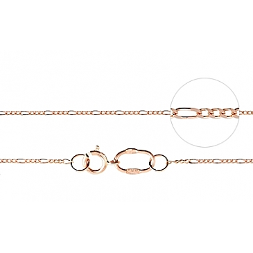 Цепь комбинированное панцирное плетение из красного золота 77333