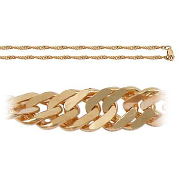 цепь комбинированное плетение из красного золота 165805012045