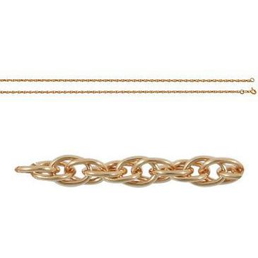 цепь кордовое плетение из красного золота 165003547055 от EVORA