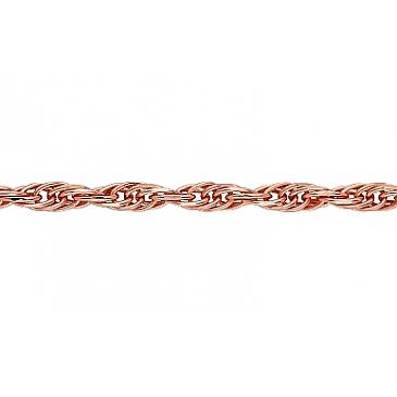 Цепь кордовое плетение из красного золота 73475