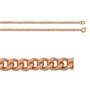 цепь панцирное плетение из красного золота 165805001045