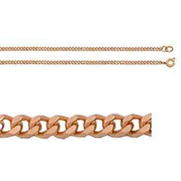 цепь панцирное плетение из красного золота 165805001050