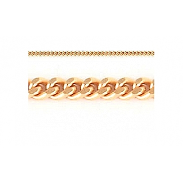 Цепь панцирное плетение из красного золота 27644