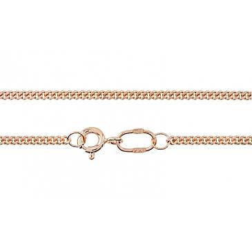 Цепь панцирное плетение из красного золота 30360