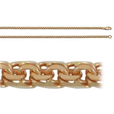 цепь плетение бисмарк из красного золота 166804080040 от EVORA
