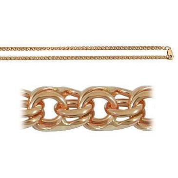 цепь плетение бисмарк из красного золота 166006080045