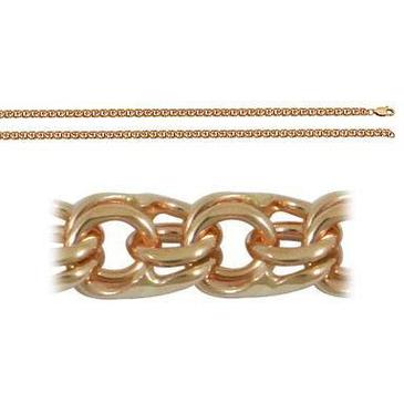 цепь плетение бисмарк из красного золота 166008080045