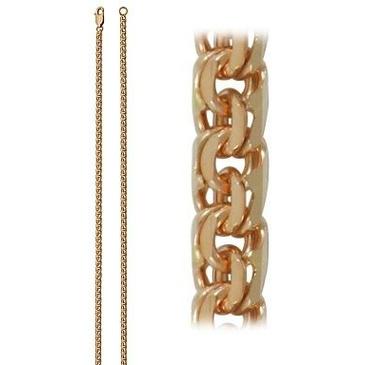 цепь плетение бисмарк из красного золота 166805080065