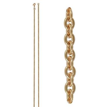 цепь плетение якорное из красного золота 165005031050