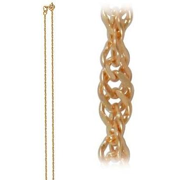 цепь плетение комбинированное из красного золота 165002512040