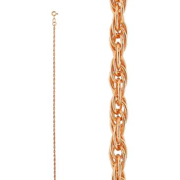 цепь плетение комбинированное из красного золота 165003577045