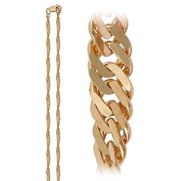 цепь плетение комбинированное из красного золота 165805012050