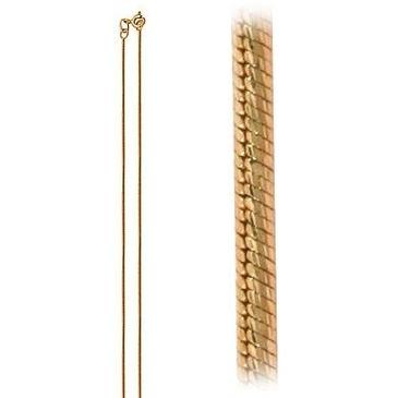 цепь плетение корда из красного золота 165802514050
