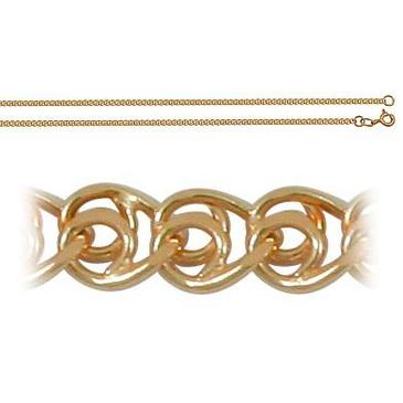 цепь плетение любовь love из красного золота 165803049060 от EVORA